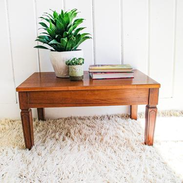 Beautiful Solid wood Mid-Century Modern Vintage Storage Bench / Table by PortlandRevibe