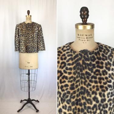 Vintage 50s top | Vintage faux leopard print jacket | 1950s Rhapsody animal print shirt by BeeandMason