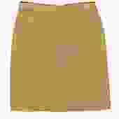 St. John - Gold Knit Ribbed Pencil Skirt Sz S