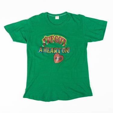 """70s """"I've Got A Heart On"""" T Shirt - Medium to Large 