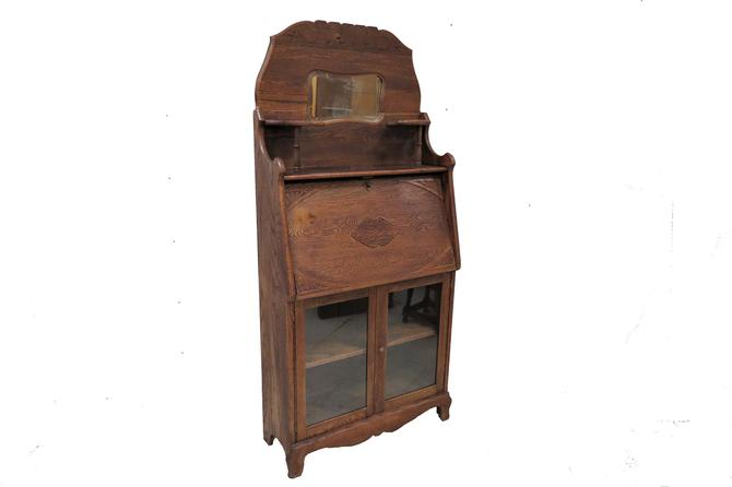 Eastlake Furniture | Antique Bookcase And Secretary Desk by PickeryPlace