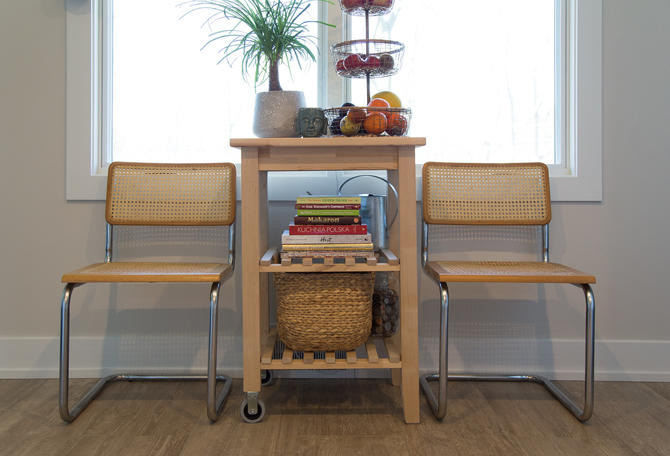 SHIPPING NOT FREE!!! Pair of Mid Century Marcel Breuer Style Dining Chairs by WorldofWicker