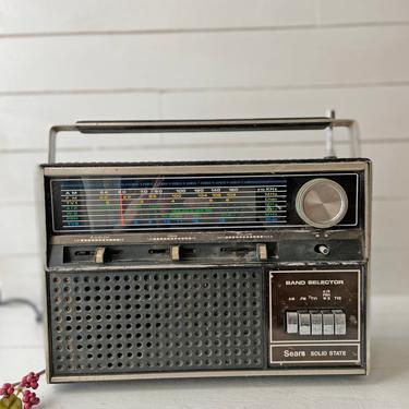 Vintage Sears And Roebuck Solid State AM/FM Radio Colored Portable Radio   Technology Collector, Radio Collector, Unique Radio Gift by CuriouslyCuratedShop