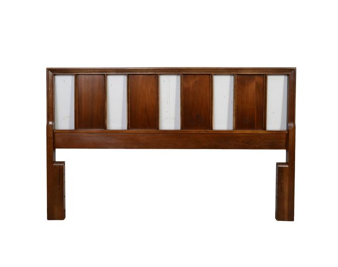 Walnut Head Board Bassett Furniture The Impact Collection Bedroom Set Mid Century Modern by HearthsideHome