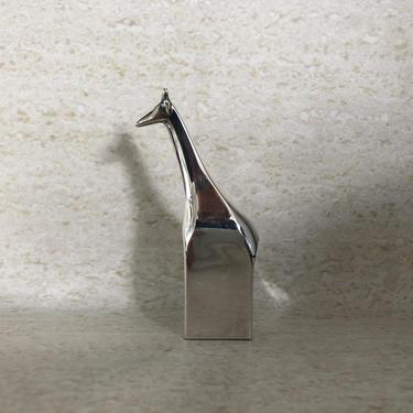 Dansk Design Silverplate Over Zinc Giraffe Paper Weight Design By Gunnar Cyren by Moderndesign20