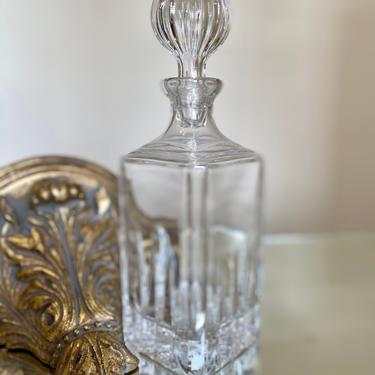 Cut Crystal Decanter w Stopper by AntiquetoChicChicago