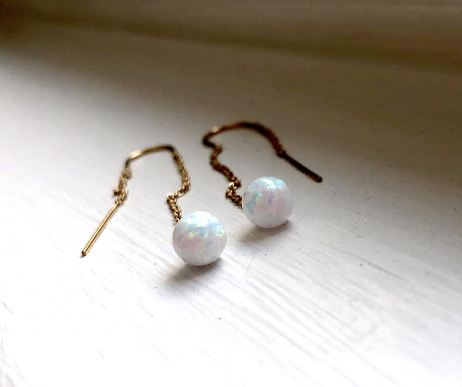 Opal Disco Ball Ear Threads by RachelPfefferDesigns