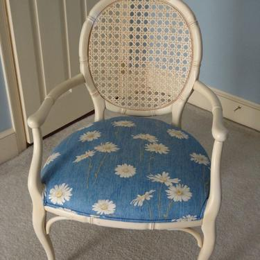 SOLD - Beautiful light and airy chair.  Very sturdy and would look great in a beach themed home or in a sun room.