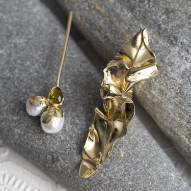 Green Tourmaline Odette Drops Earrings