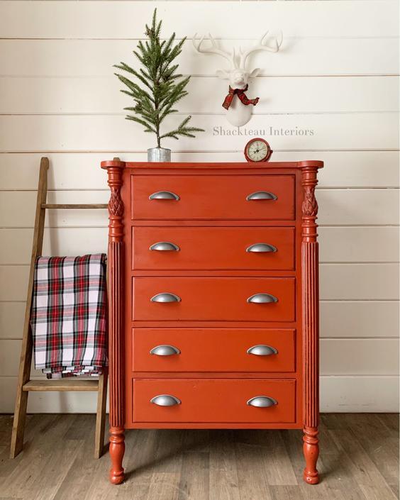 Masconomo Red Dresser