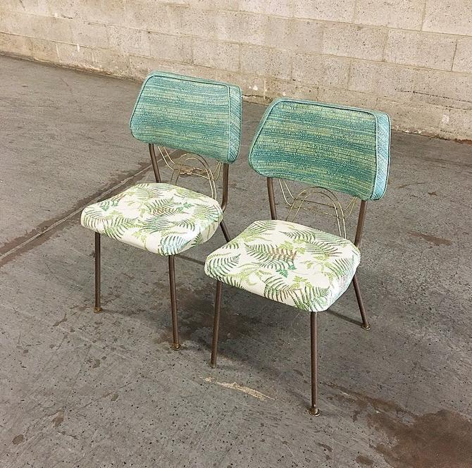 LOCAL PICKUP ONLY ----------- Vintage Set of 2 Kitchen Chairs by RetrospectVintage215