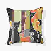 Mid Century Modern Cats Pillow