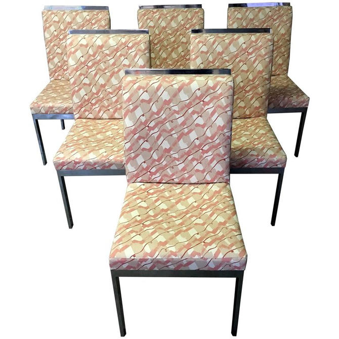 Set of Six Design Institute of America Dining Chairs by HermansSteelGarage