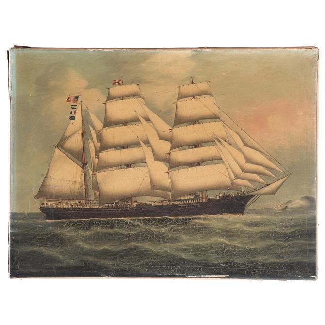 American School, 19th c. Packet Ship Joseph Walker