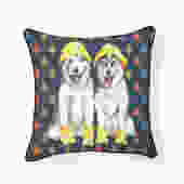 Raining Huskies Husky Pillow
