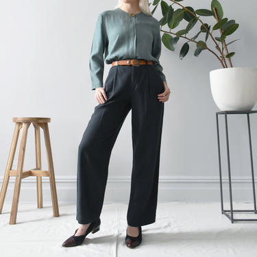 vintage 90s Gap linen pants, relaxed high waisted trousers, size XS / S by ImprovGoods