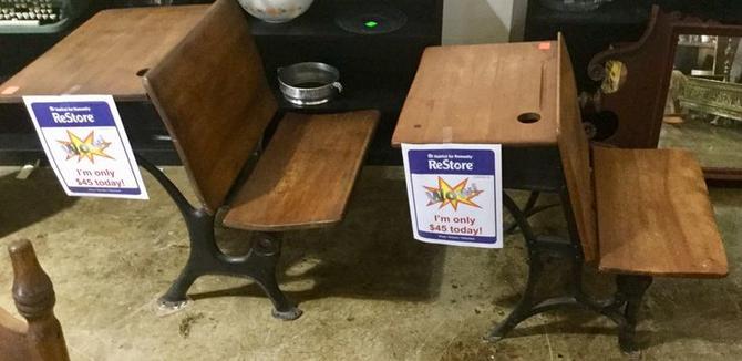 Vintage children's desk available at Habitat for Humanity Restore Rockville for $45