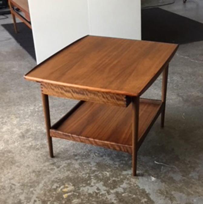 HA-19075 Moreddi Teak Side Table with Drawer