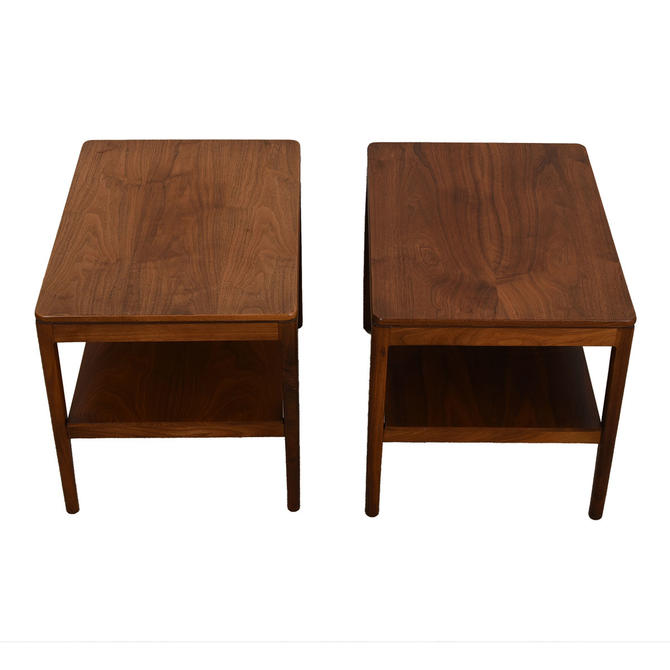 Pair of Mid Century Walnut Nightstands / Accent Tables