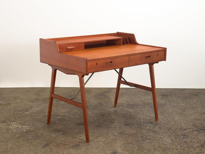 Model 56 Teak Desk by Arne Wahl Iversen by openairmodern