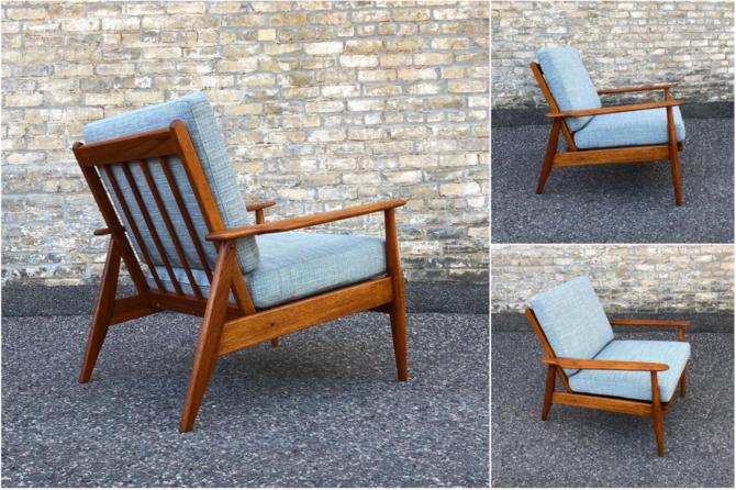 Authentic Mid-century Easy Chair Fully Restored