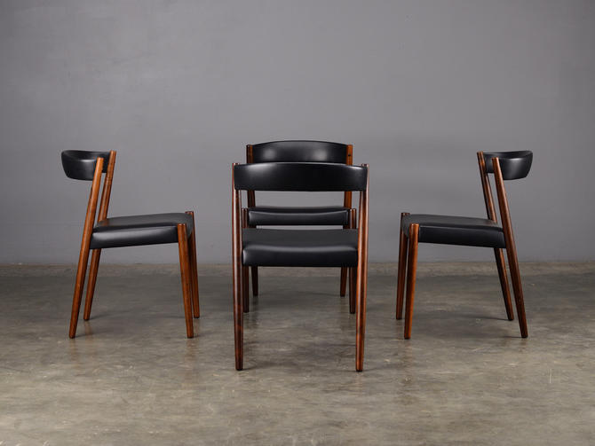 Enjoyable 4 Mid Century Dining Chairs Rosewood Danish Modern By Madsenmodern Download Free Architecture Designs Viewormadebymaigaardcom