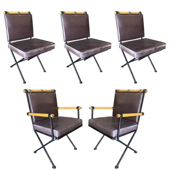 """Set of Five Midcentury """"Directors Chair"""" Chairs in the Style of Cleo Baldon by HarveysonBeverly"""