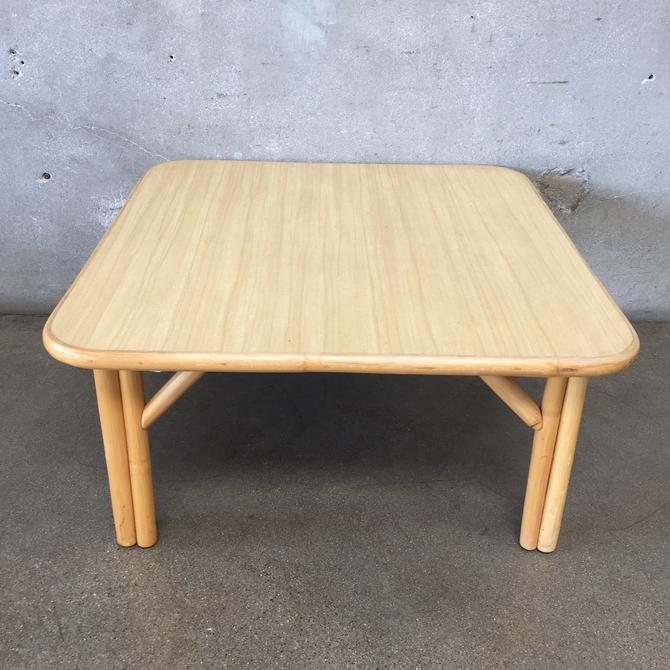 1950's Bamboo Formica Coffee Table