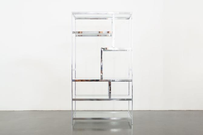 Milo Baughman Chrome Shelf