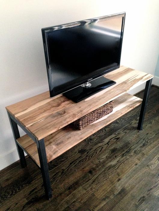 "The ""Stockton""  Media Unit/Shelving Unit - Reclaimed Wood & Steel - Multiple Sizes Available by arcandtimber"