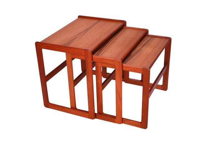 Danish Mid Century Modern Denmark Teak Nesting Tables by Marykaysfurniture
