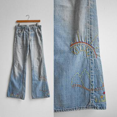 Vintage Mr Lee Bell Bottom Jeans 32 by milkandice