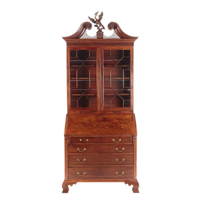 American Chippendale Mahogany Secretary Desk