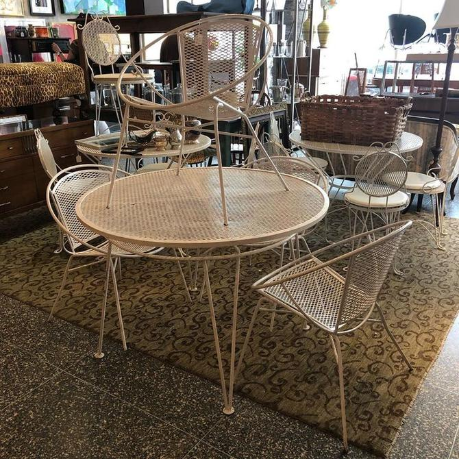 John Salterini patio set! Table and 4 saucer chairs! $495
