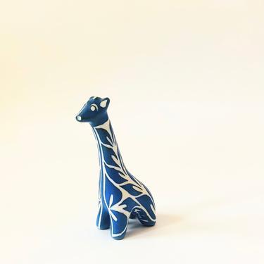 Vintage Blue Pottery Giraffe by Pablo Zabal by SergeantSailor