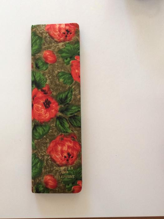 Vintage Japanese Address Book Covered in Floral Printed Silk by nauhaus