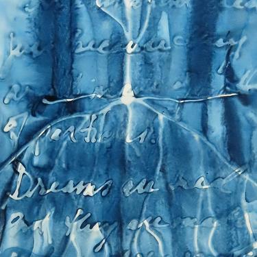 Dreams Are Real: Original ink painting on yupo of neurons - neuroscience art literature Neil Gaiman by artologica