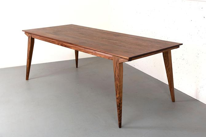 Walnut Dining Table, Mid Century Modern Table, 8 to 10 Seat Dining Table by kyledauria