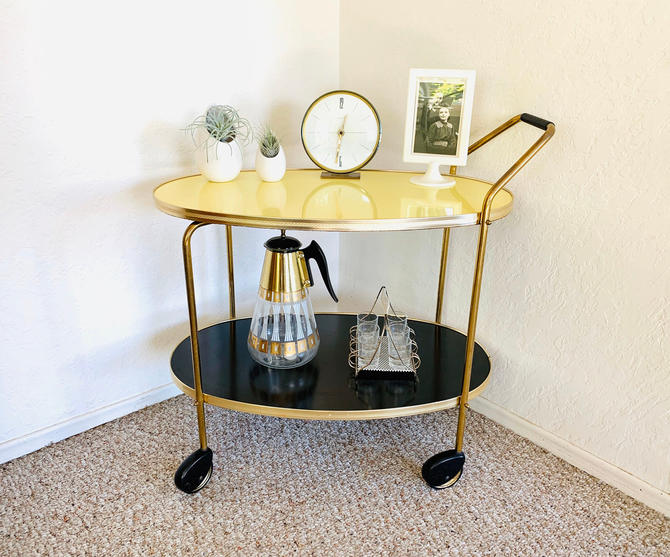 Mid Century Dry Bar, Vintage Bar Cart, Mid Century Bar Cart, Formica Bar Cart, 50s 60s, Vintage Dry Bar, Serving Cart, Record Player Stand by dadacat