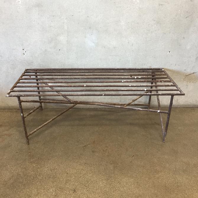 Mid Century Modern Metal Bench