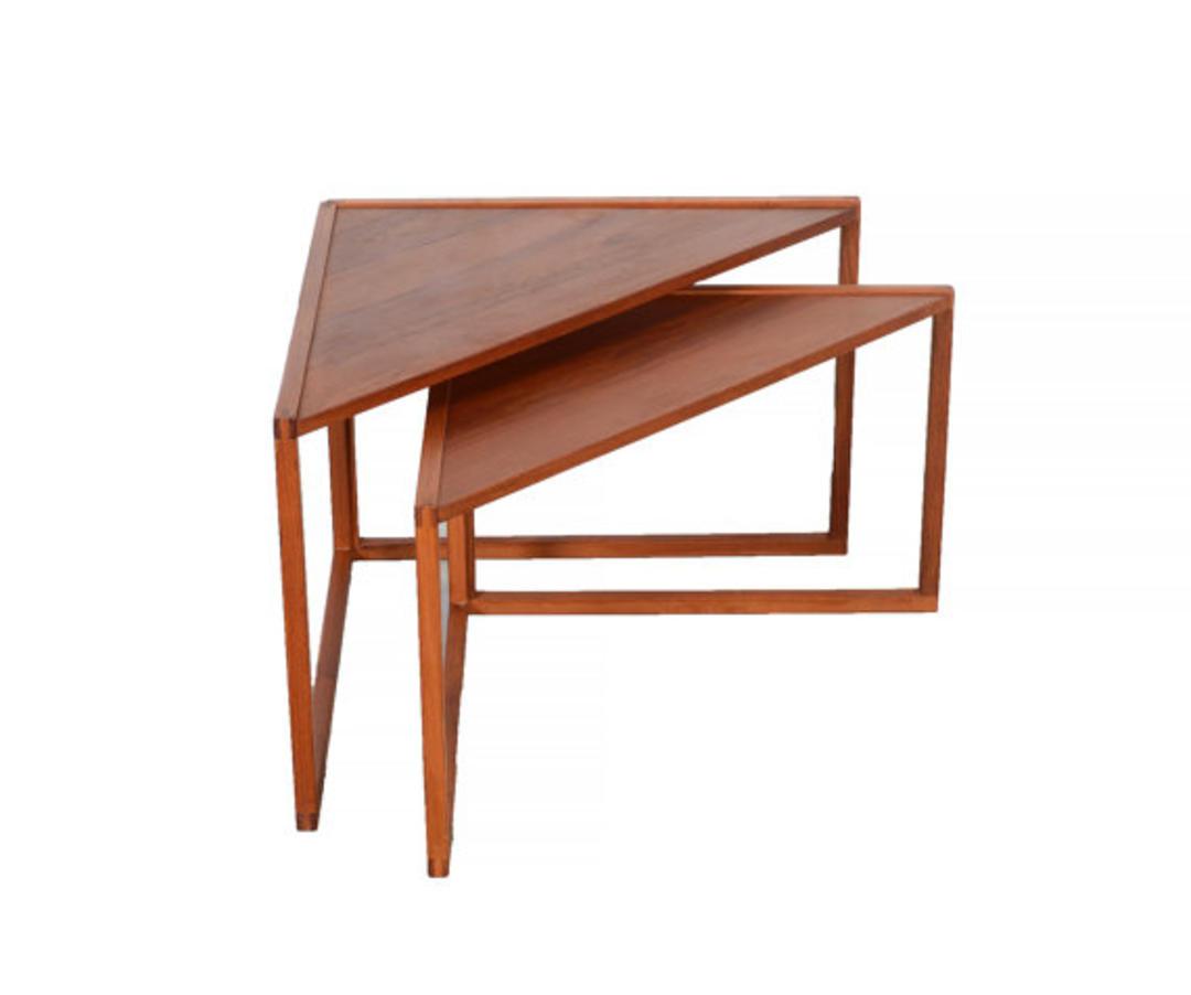 Kai Kristiansen Teak Side Tables Nesting Tables Teak