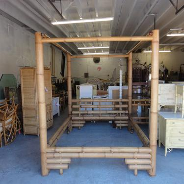 Island Chic Bamboo Queen Canopy Bed