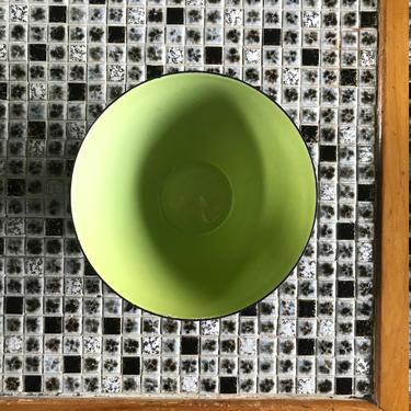 Herbert Krenchel Danish Krenit Bowl Small Nut Condiment Vintage Mid-CEntury Modern Green by BrainWashington