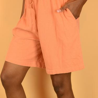 Vintage Burnt Orange High Rise Drawstring Relaxed Shorts by MAWSUPPLY