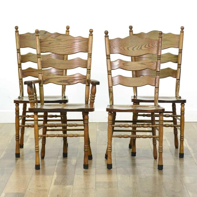 Set 4 Hw Hull & Sons American Provincial Dining Chairs