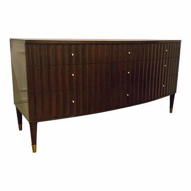 Barbara Barry for Henredon Modern Mahogany Finished Fluted Dresser