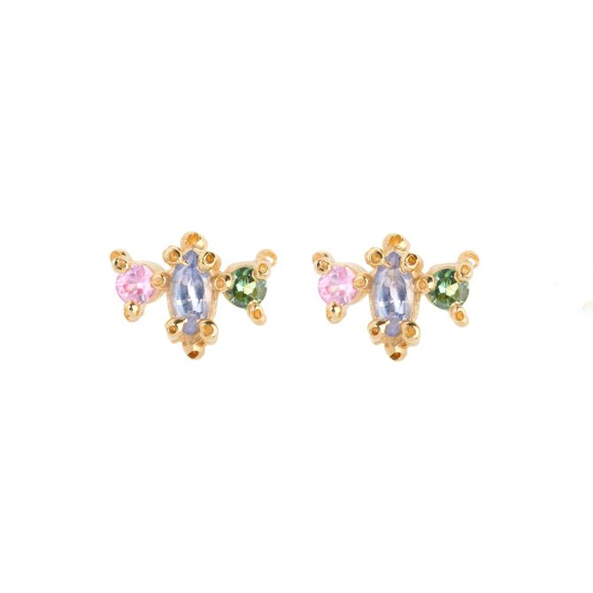 Marquise Pink Round Studs Spring