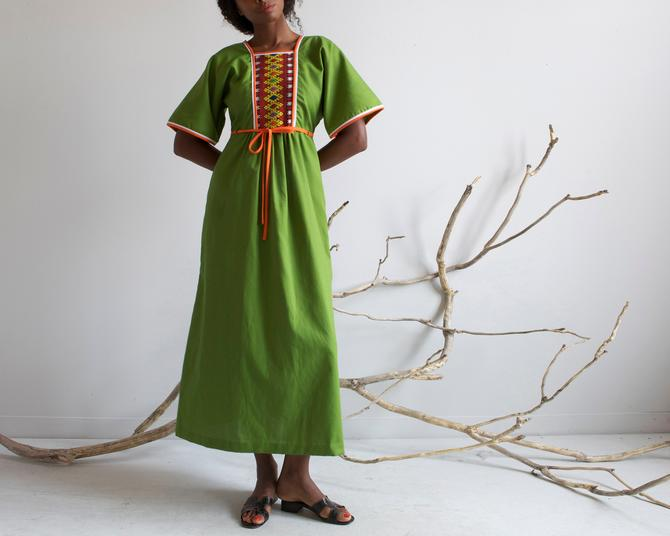 green woven detail long dress by EELT