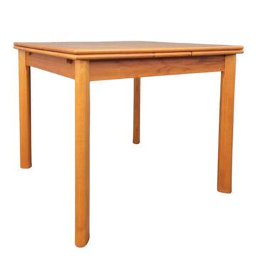 Mid Century Modern Teak DANISH DINING TABLE hidden leaves, Made in Denmark by CIRCA60