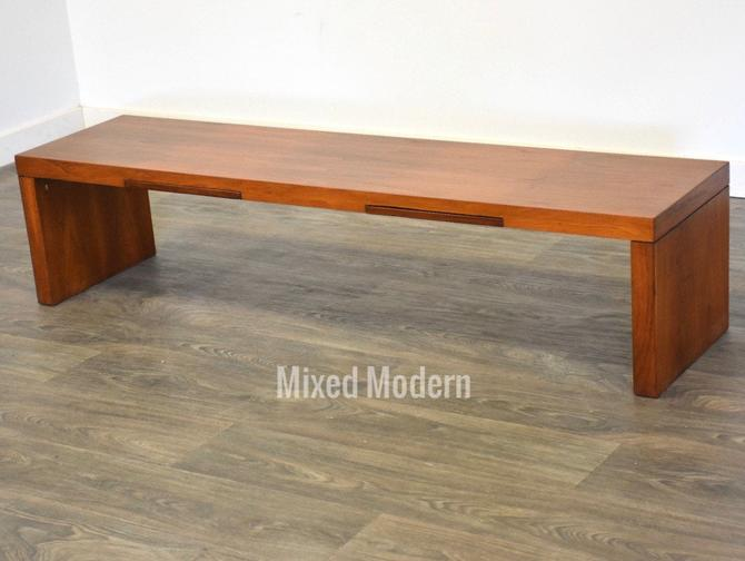Walnut Coffee Table or Bench by mixedmodern1